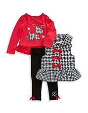 Girls 2-6x 3-Piece Scottie Set