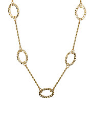 14 Kt Yellow Gold Oval Necklace
