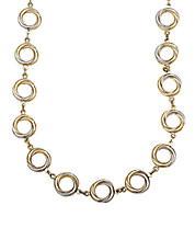 14 Kt. Yellow Gold Circle Twist Necklace
