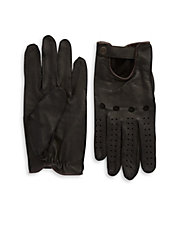 Perforated Leather Driving Gloves