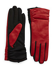 Cherry Ruched Gloves