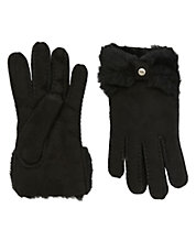 Shearling Bow Gloves