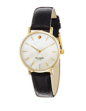 Ladies Metro Black Leather Watch