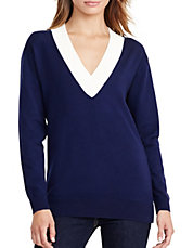 Relaxed V-Neck Sweater. Quick View. LAUREN RALPH LAUREN