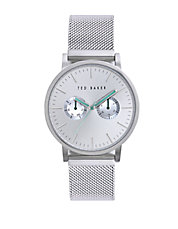 Mens Stainless Steel Watch with Mesh Strap