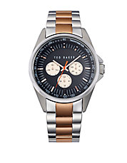 Mens Two Tone Multifunction Chronograph Watch