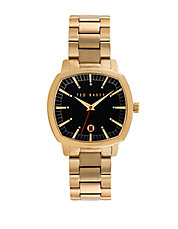 Mens Hamilton Gold Plated Bracelet Watch