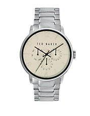 Mens Smart Casual Stainless Steel Chronograph Bracelet Watch