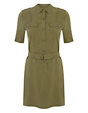 Button-Front Utility Dress