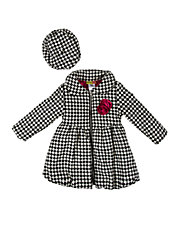 Girls 2-6x Bubble Coat and Hat Set