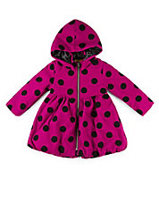 Girls 2-6x Polka Dot Peplum Coat
