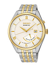 Mens Kinetic Retrograde Two Tone Watch
