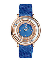Ladies Diamond-Accented Venus Watch with Calfskin Strap
