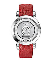 Ladies Stainless Steel Minuetto Watch with Calfskin Strap
