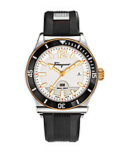 Mens 1898 Sport Silvertone and Black Watch