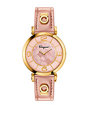 Ladies Gancino Deco Watch with Leather Strap