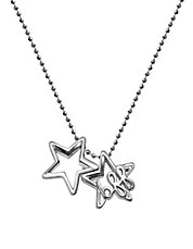 Little Words BFF Stars Sterling Silver Pendant Necklace