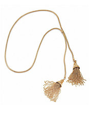 Modern Garden Tulip Tassel 14K Gold Brass Necklace
