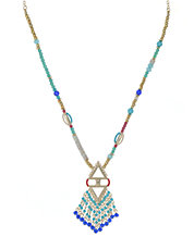 Modern Nomad Beaded Fringe Necklace
