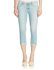 Cropped Roll-Up Jeans