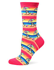 Beach Umbrella and Ball Crew Socks