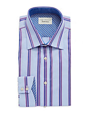Endurance Sterling Block Striped Dress Shirt