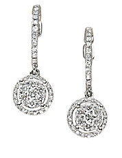 Bouquet Diamond and 14K White Gold Drop Earrings, 0.59TCW