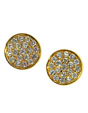 Diamond And 14K Yellow Gold Stud Earrings