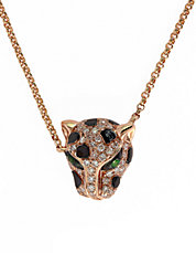 Signature 14K Rose Gold Diamond and Tsavorite Pendant Necklace