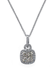 Bouquet 14Kt White Gold and Diamond Pendant Necklace