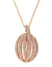 Diamond And 14K Rose Gold Pendant Necklace, 0.83 TCW