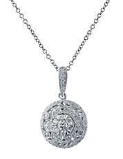 Snowflake Diamond And 14K White Gold Pendant