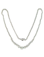 Diamond And 14K White Gold Graduated Necklace, 2.22 TCW