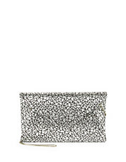 Metallic Crackle Envelope Clutch