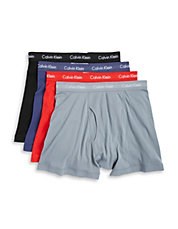 Calvin Klein Three-Pack Cotton Boxers Plus Bonus Pair