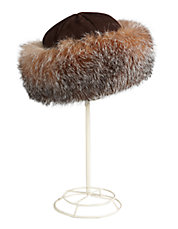 Fox Fur-Trimmed Hat