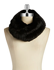 Mink Fur Double Loop Infinity Scarf