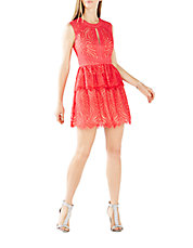 Micaila Lace Fit-And-Flare Dress