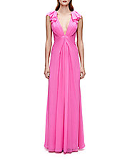 Silk Pleated Gown