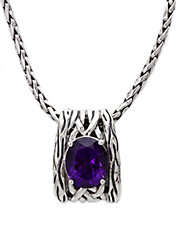 Balissima Amethyst Necklace in Sterling Silver