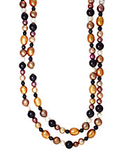 47 Inch Dark Multicolor Pearl Necklace