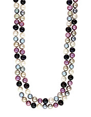 Multi-Color Pearl Necklace
