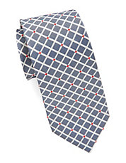 Silk Diamond Checked Tie