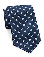 Hollow Square Silk Tie