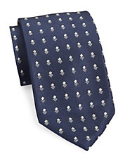 Double Diamond-Patterned Silk Tie