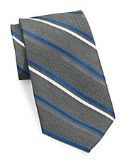 Double Striped Silk Tie
