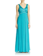 Embellished Empire Panel Gown