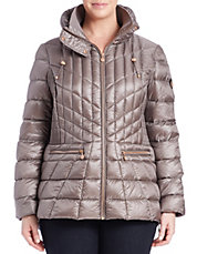 Plus Fitted Puffer Jacket