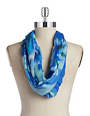 Brushed Floral Loop Scarf