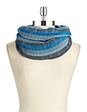 Pleated Infinity Look Scarf